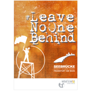 Poster Leave no one behind Hochformat