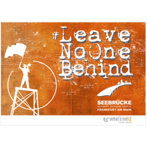 Poster Leave no one behind Querformat