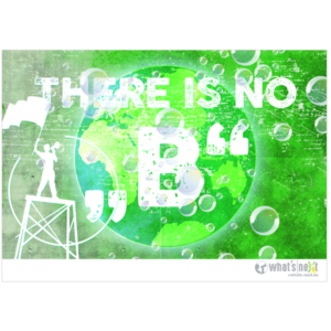 Poster there is no b Querformat